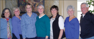 From left: Alice Goldstein, Lisa Lacasse, Diane Ames, Chris Whitney, Sharin Luti, Gail Ferney and John Ferney.