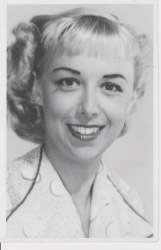 Press photo from her days as a singer.