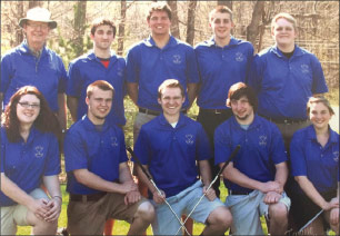 Gary Ott with one of his MVCS golf teams.