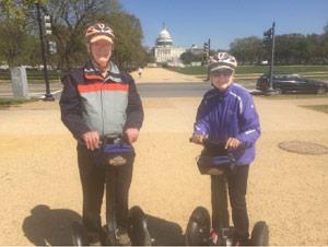 Touring Washington, DC.