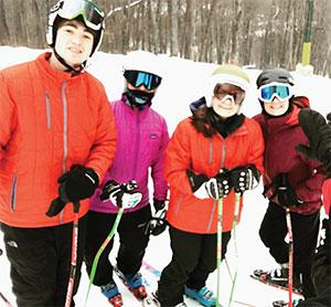 From left: Matt, Sara, Amelia and Taylor