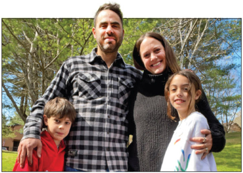 A family affair: Alex and Cristy Beram with their children, Beau and Rosie